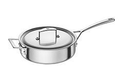Zwilling J.A. Henckels Aurora 3 Quart Stainless Steel Saute Pan with Lid