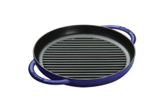 "Staub Cast Iron 10"" Round Double Handle Pure Grills"