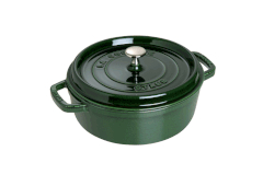 Staub Cast Iron 4 Quart Shallow Wide Round Cocottes