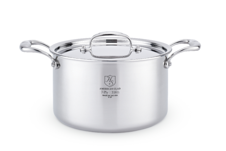 Hammer Stahl Stainless 7-Ply Sauce Pots with Lid