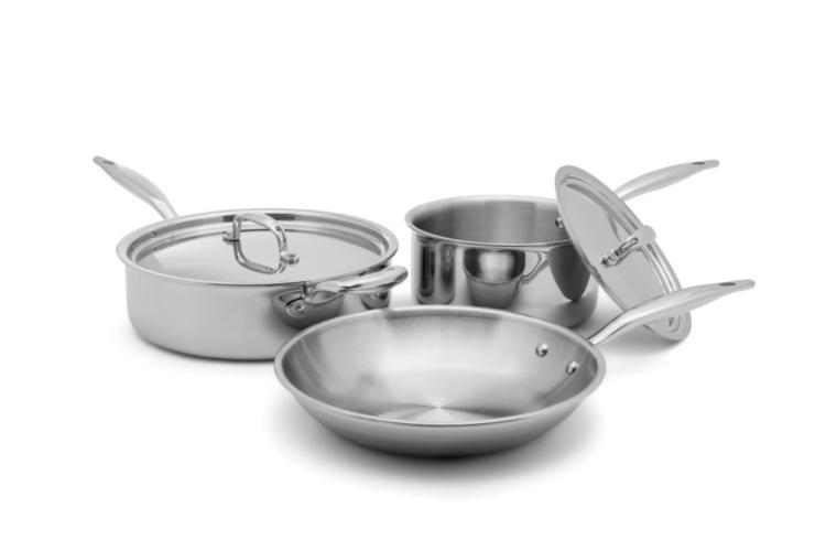 Hammer Stahl Stainless 7-Ply Essentials 5-Piece Cookware Set