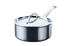 Hestan NanoBond Stainless Steel 3 Quart Covered Saucepan