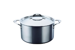 Hestan NanoBond Stainless Steel 8 Quart Stockpot with Lid
