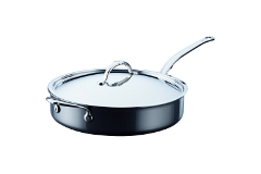 Hestan NanoBond Stainless Steel 5 Quart Covered Saute with Helper Handle