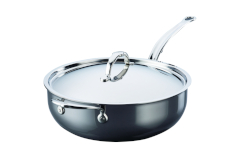 Hestan NanoBond Stainless Steel 5 Quart Essential Pan with Lid/Helper Handle