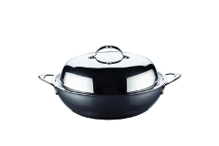 "Hestan NanoBond Stainless Steel 14"" Covered Wok"