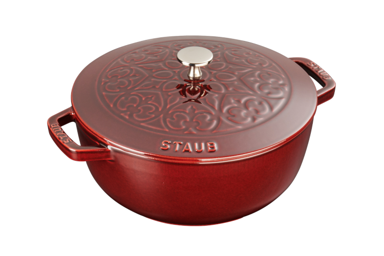 Staub Cast Iron 3.75 Quart Essential French Ovens with Lily Lid