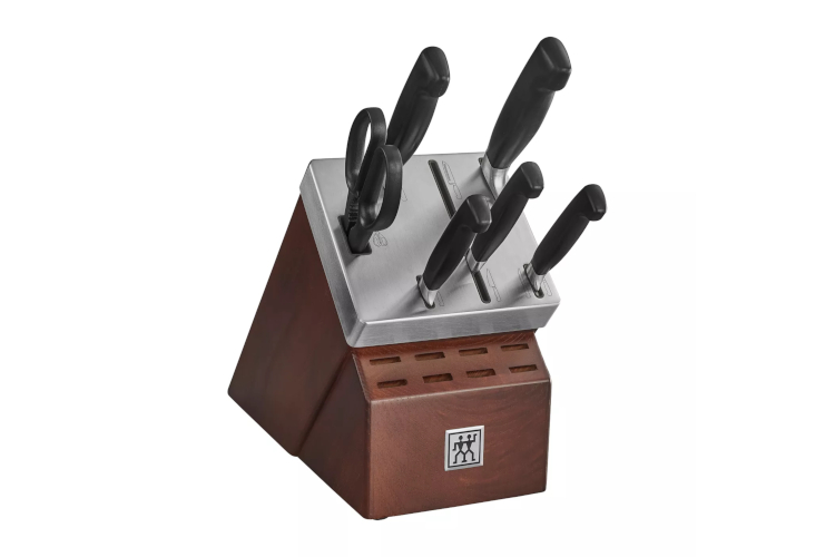 ZWILLING Four Star 7-Piece Self-Sharpening Knife Block Set