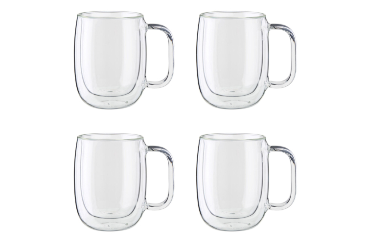 ZWILLING Sorrento Plus Double Wall Coffee Cups - Set of 4