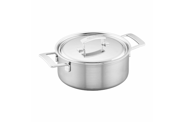 Demeyere Industry5 Stainless Steel 5.5 Quart Dutch Oven with Lid