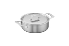 Demeyere Industry5 Stainless Steel 4 Quart Deep Sauté Pan with Lid