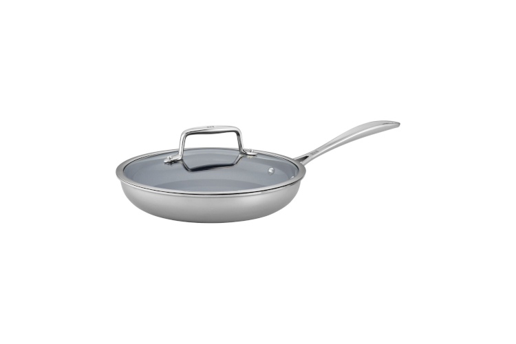 "ZWILLING CFX Stainless Steel 9.5"" Ceramic Nonstick Fry Pan Set with Lid"