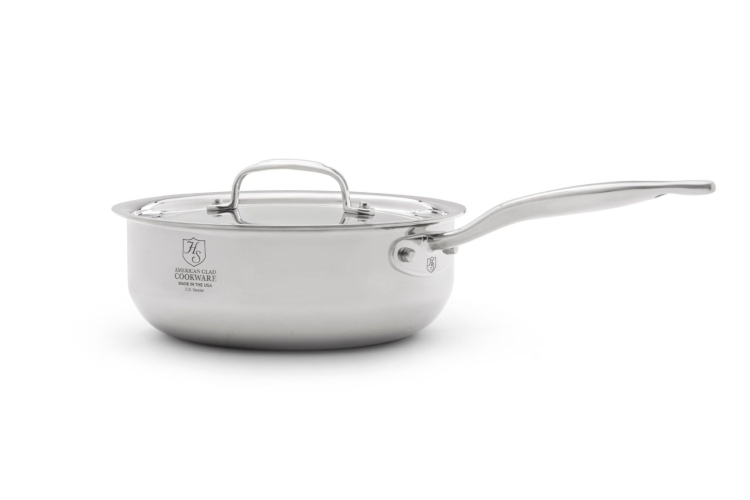 Hammer Stahl Stainless 7-Ply 3 Quart Saucier with Lid