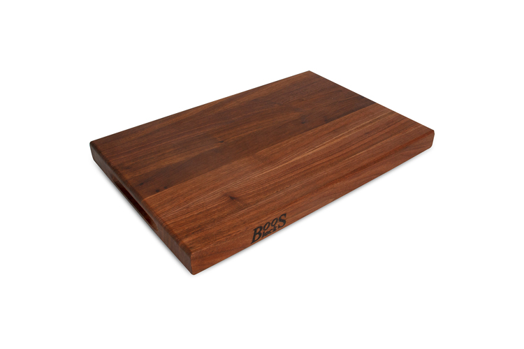 "John Boos Reversible  18"" x 12"" x 1.5"" Cutting Board Walnut"