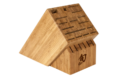 Shun 22-Slot Bamboo Knife Block