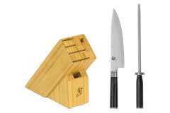 Shun Classic 2-Piece Build A Block Set w/ Bonus Honing Steel