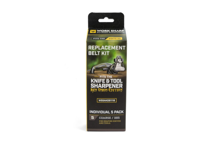 Work Sharp Knife and Tool Sharpener: Ken Onion Edition Coarse Belt Replacement Kit