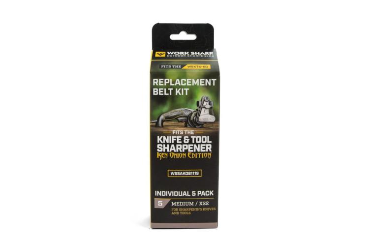 Work Sharp Knife and Tool Sharpener: Ken Onion Edition Medium Belt Replacement Kit