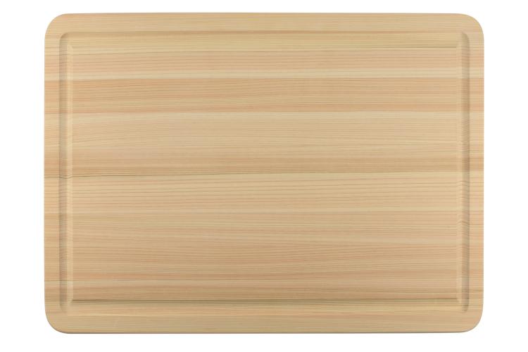 Shun Large Hinoki Cutting Board with Juice Groove