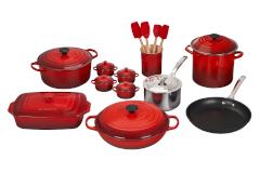 Le Creuset 20-Piece Mixed Material Cookware Set- Cerise