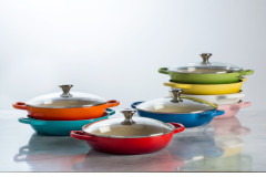 Le Creuset 3.5 Quart Cast Iron Buffet Casseroles with Glass Lid