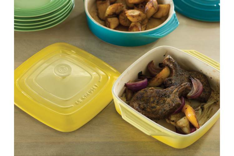 Le Creuset Stoneware Covered Square Casserole