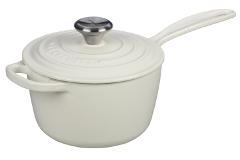 Le Creuset Signature 1.75 Quart Cast Iron Saucepan White