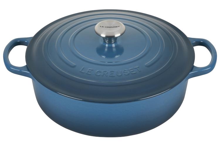 Le Creuset Signature Cast Iron 6 3/4 Quart Round Wide Dutch Oven - Deep Teal