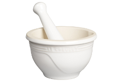 Le Creuset Stoneware 10 Ounce Mortar and Pestle White