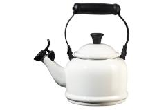 Le Creuset White 1.25 Quart Demi Tea Kettle