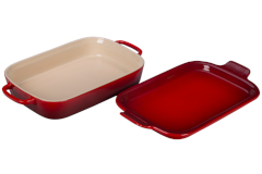 Le Creuset Stoneware Rectangular Dish with Platter Lid