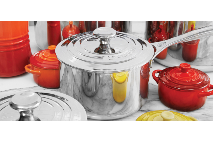 Le Creuset Premium Stainless Sauce Pans with Lid
