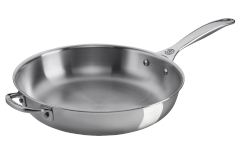 "Le Creuset Premium Stainless Steel 12.5"" Deep Fry Pan with Helper Handle"