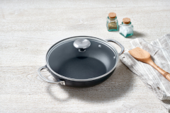 Le Creuset Toughened Nonstick Shallow Casseroles with Glass Lid