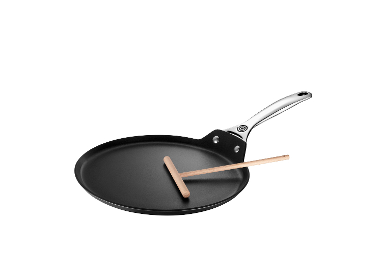 """Le Creuset Toughened Nonstick 11"""" Crepe Pan and Rateau"""