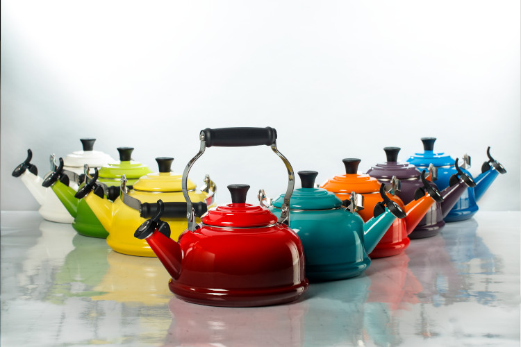Le Creuset Enamel on Steel 1.7 Quart Whistling Tea Kettles