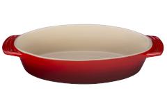 "Le Creuset Stoneware 11.25"" Oval Dish Cerise"