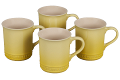 Le Creuset Stoneware Set of 4 Mugs - Soleil