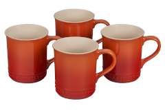 Le Creuset Stoneware Set of 4 Mugs - Flame