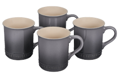 Le Creuset Stoneware Set of 4 Mugs - Oyster