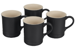 Le Creuset Stoneware Set of 4 Mugs - Licorice