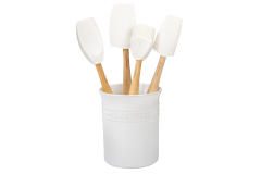Le Creuset Craft Series 5-Piece Utensil Set with Crock - White
