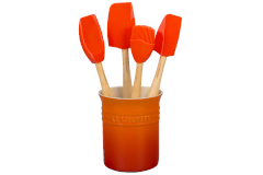 Le Creuset Craft Series 5-Piece Utensil Set with Crock - Flame