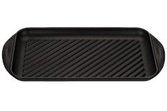 Le Creuset Cast Iron Extra Large Double Burner Grill- Matte Black