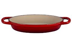 Le Creuset Signature Cast Iron 1 Quart Oval Baker - Cerise