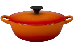 Le Creuset Cast Iron 1.5 Quart Chef's Oven - Flame