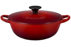 Le Creuset Cast Iron 1.5 Quart Chef's Oven - Cerise