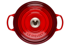 Le Creuset Cast Iron 4.5 Quart Mickey Mouse Round Dutch Oven