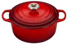 Le Creuset Cast Iron 4.5 Quart Mickey Mouse Round Dutch Oven