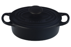 Le Creuset Signature Cast Iron 1 Quart Oval Oven - Matte Black